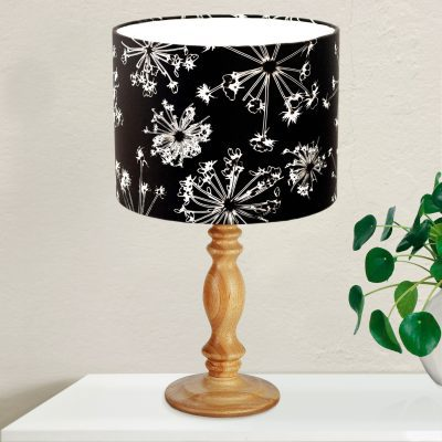 Black Cow Parsley | Black & White Lamp Shade For The Dining Room