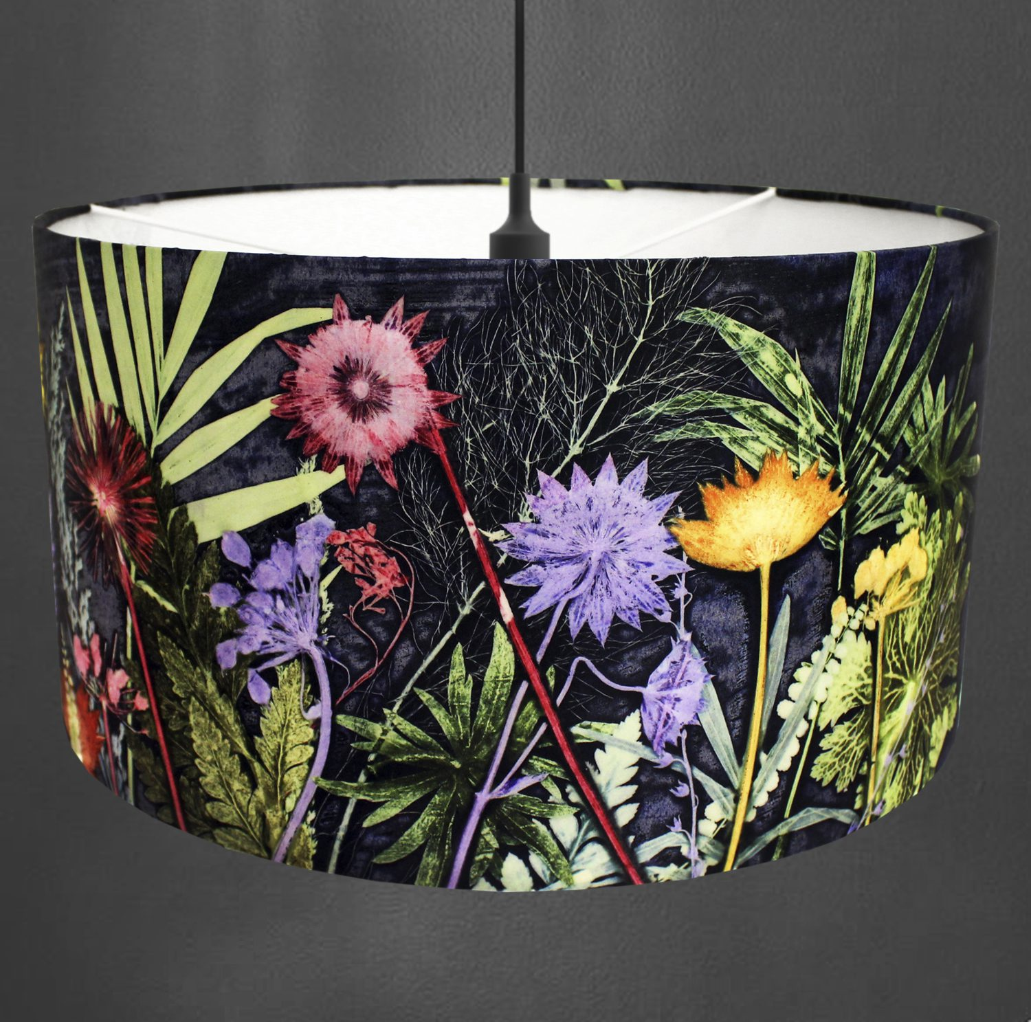 Midnight Jungle | Blue & Green Light Shade For The Dining Room