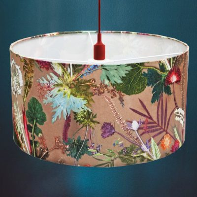 Tropical Dusk | Pink & Green Light Shade For The Bedroom