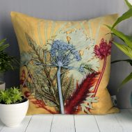 Tropical Sunshine 3 | Yellow & Red Sofa Cushion Tropical Interior