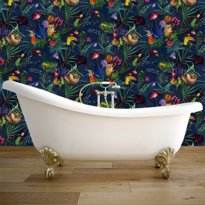 Jungle Surprise | Animal Pattern Designer Wallpaper, Tropical Style