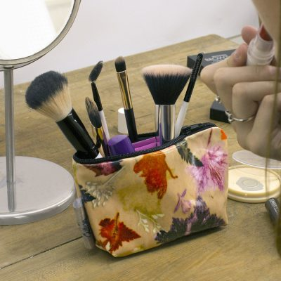 Autumn Flurry - Botanical Inspired Travel & Beauty Makeup Bag.