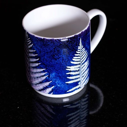 Blue Christmas Tree Ferns Ceramic Mug - Home and Kitchen Accessory