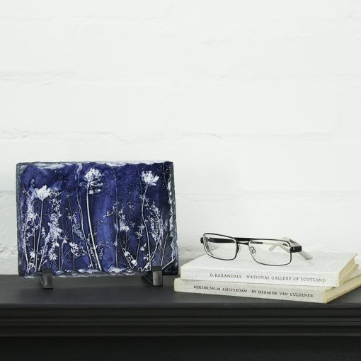 Blue Waltz Slate Art Print - Home Accessory and Gift
