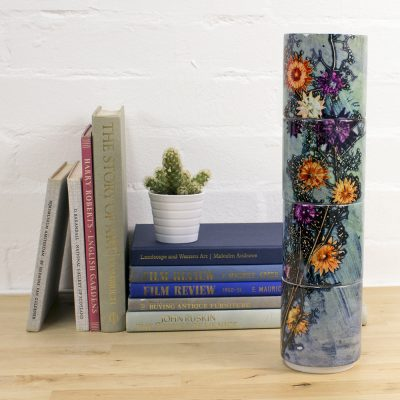 Branching Astrantia | Purple & Orange Stacking Mug, Gift Set of 4
