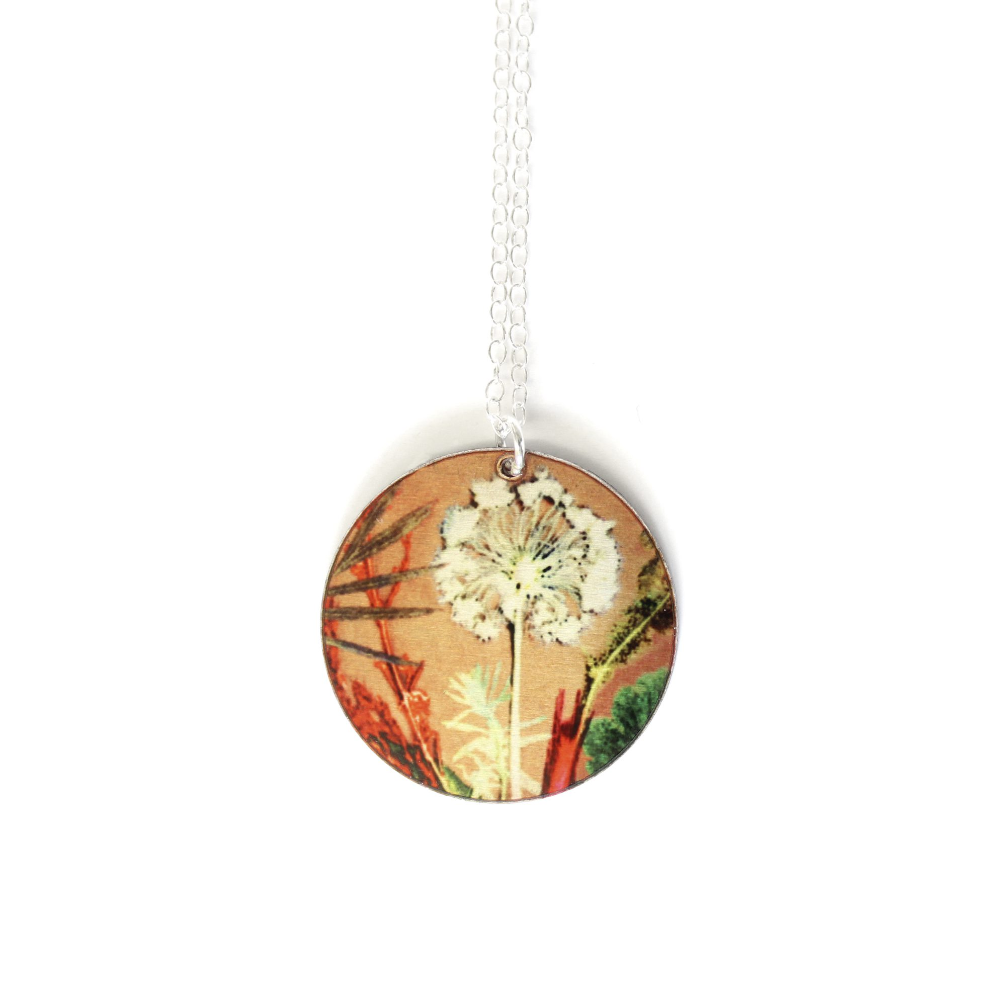 Exotic Inspired Tropical Dusk Pendant Necklace Gillian