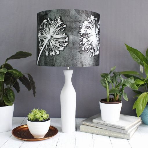 Alliums | White & Grey Light Shade For The Living Room