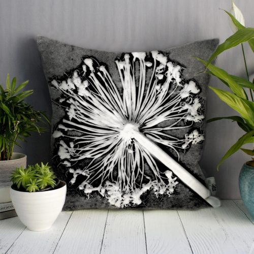 Alliums | Monochrome Design Sofa Cushion Bold Design