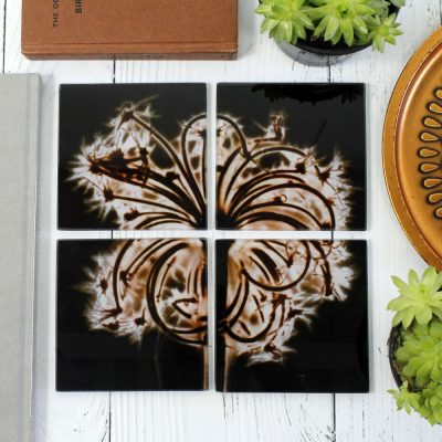 Sopwell Trinity | Black & Bronze Set of Glass Coasters