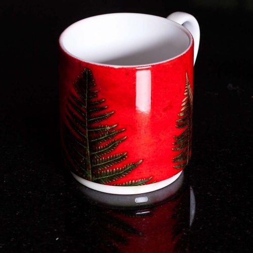 Christmas Tree Fern Ceramic Mug - Home and Kitchen Accessory