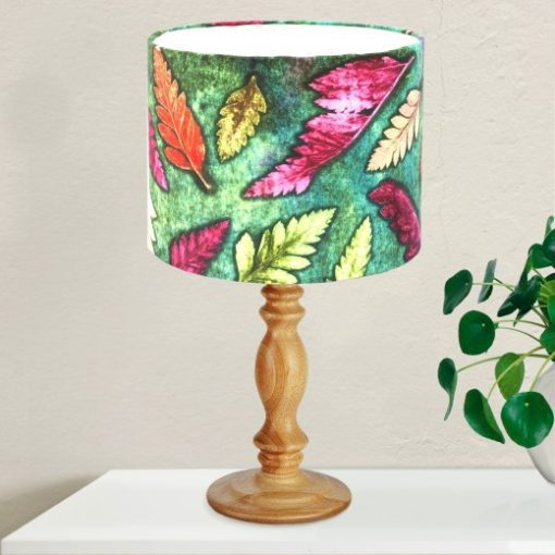 Fern Cluster Green - Pink & Green Lamp Shade For The Dining Room