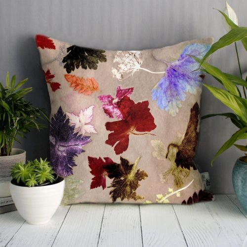 crimson autumn flurry botanical style home dcor cushion - Home Decor Cushions