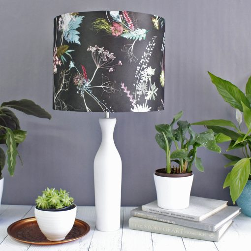 Edwardian Blooms | Dark Chocolate & White Light Shade For The Home