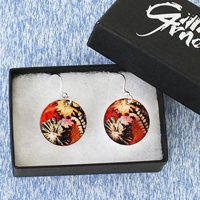 Round & Bar Drop Earrings