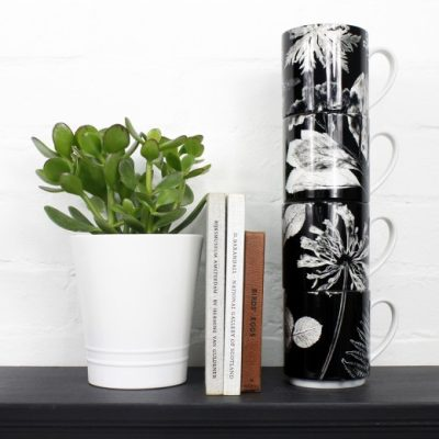 Springs Spectre | Black & White Stacking Mug, Gift Set of 4