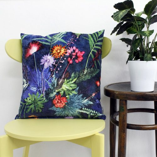 Indigo Tropical | Green & Blue Sofa Cushion Tropical Interior