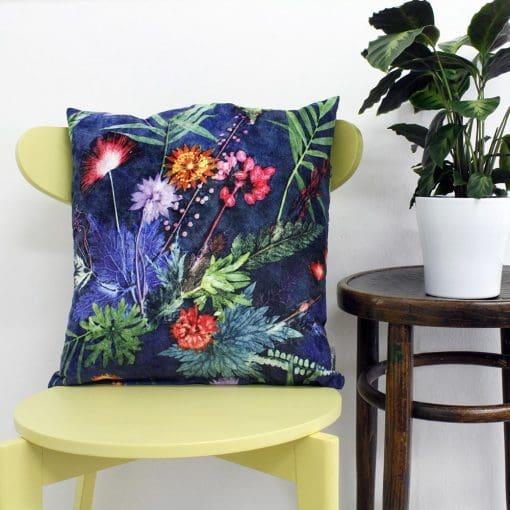 Indigo Tropical | Green & Blue Sofa Cushion Tropical Interior