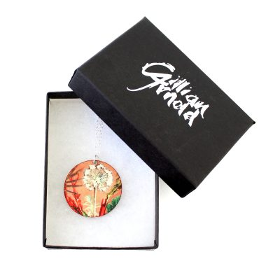 Exotic Inspired Tropical Dusk Pendant Necklace Box