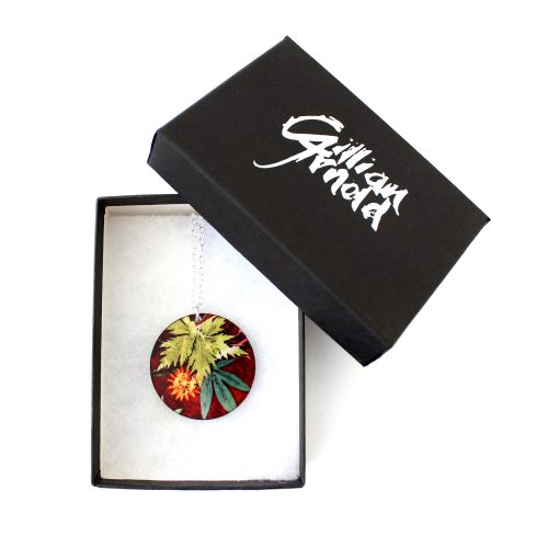 Exotic Inspired Tropical Wine Pendant Necklace Box