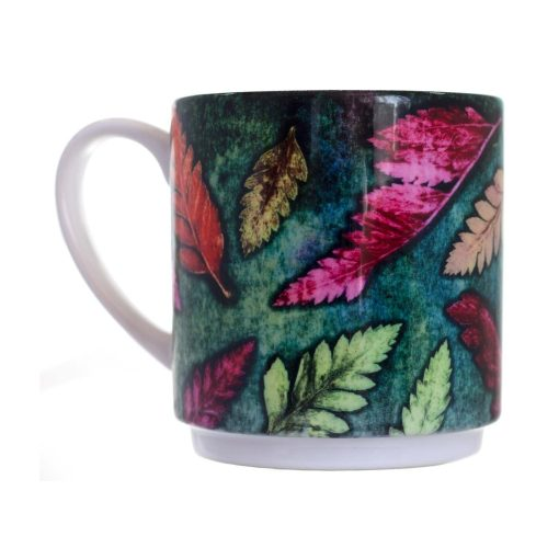 Fern Cluster Green Ceramic Mug - Home and Kitchen Accessory