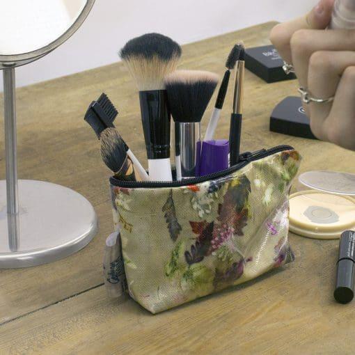 Floral Dance - Botanical Inspired Travel & Beauty Makeup Bag.