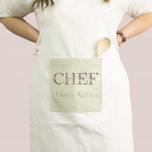Personalised Woman\'s Name Botanical Style Kitchen Apron | Gillian Arnold