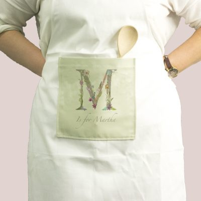 Floral Letter Womans Name Kitchen Apron - Personalised Gift