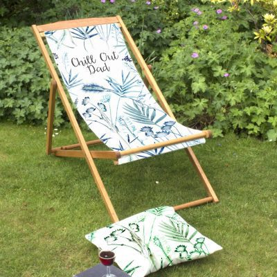 Hot House Fronds | Personalised Wood Deckchair, Outdoor Furniture