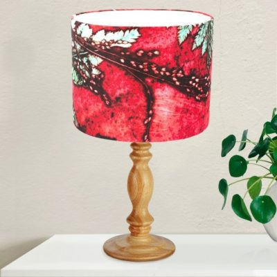 Strawberry Fern | Green & Red Light Shade For The Living Room