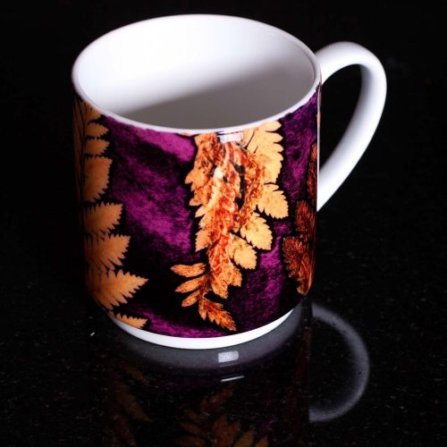 Golden Fern Ceramic Mug - Home and Kitchen Accessory