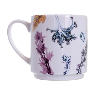 Grasses in White Ceramic Mug - Home and Kitchen Accessory