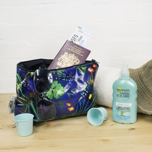 Indigo Tropical - Exotic Inspired Travel and Beauty Wash Bag