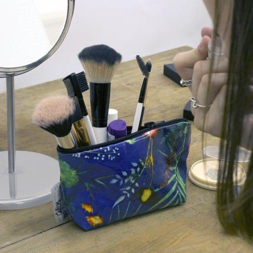 Indigo Tropical - Tropical Inspired Travel & Beauty Makeup Bag.