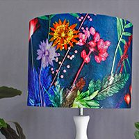 Colourful Patterned Drum Lampshades