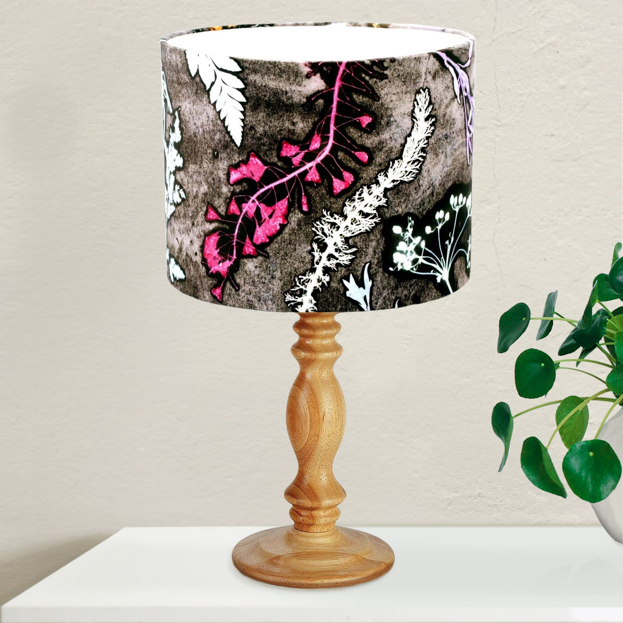 Magenta Home Decoration: Pink & Grey Light Shade For The Bedroom