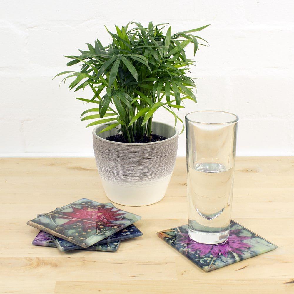 Unique Gift Ideas Colourful Glass Coasters