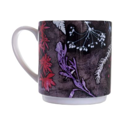 Magenta Heart Grass Ceramic Mug - Home and Kitchen Accessory