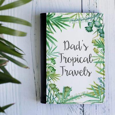 Mens Tropical Passport Holder - Personalised Travel
