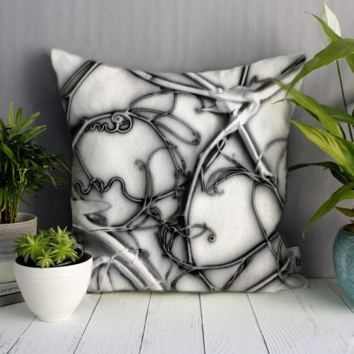 Cream Sweetpea | Monochrome Design Sofa Cushion Bold Design