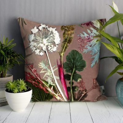 Tropical Dusk | Pink & Green Sofa Cushion Tropical Interior