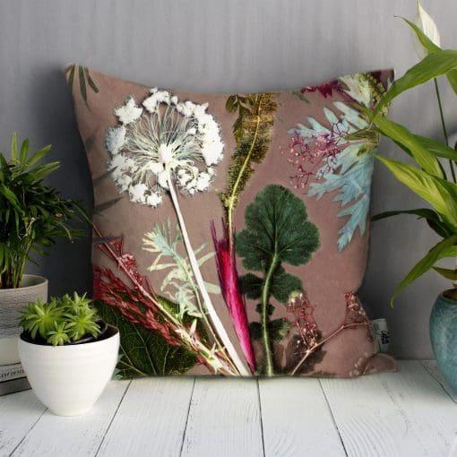 Tropical Dusk | Pink & Green Sofa Cushion Tropical Interior