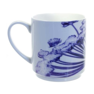 Purple Cow Parsley Head Ceramic Mug - Home and Kitchen Accessory