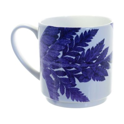 Purple Ferns Ceramic Mug - Home and K