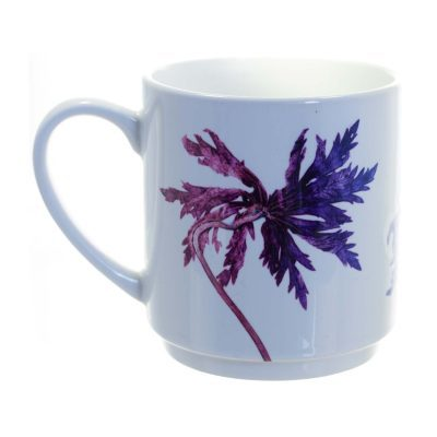 Purple Star Leaves Ceramic Mug - Home and Kitchen Accessory