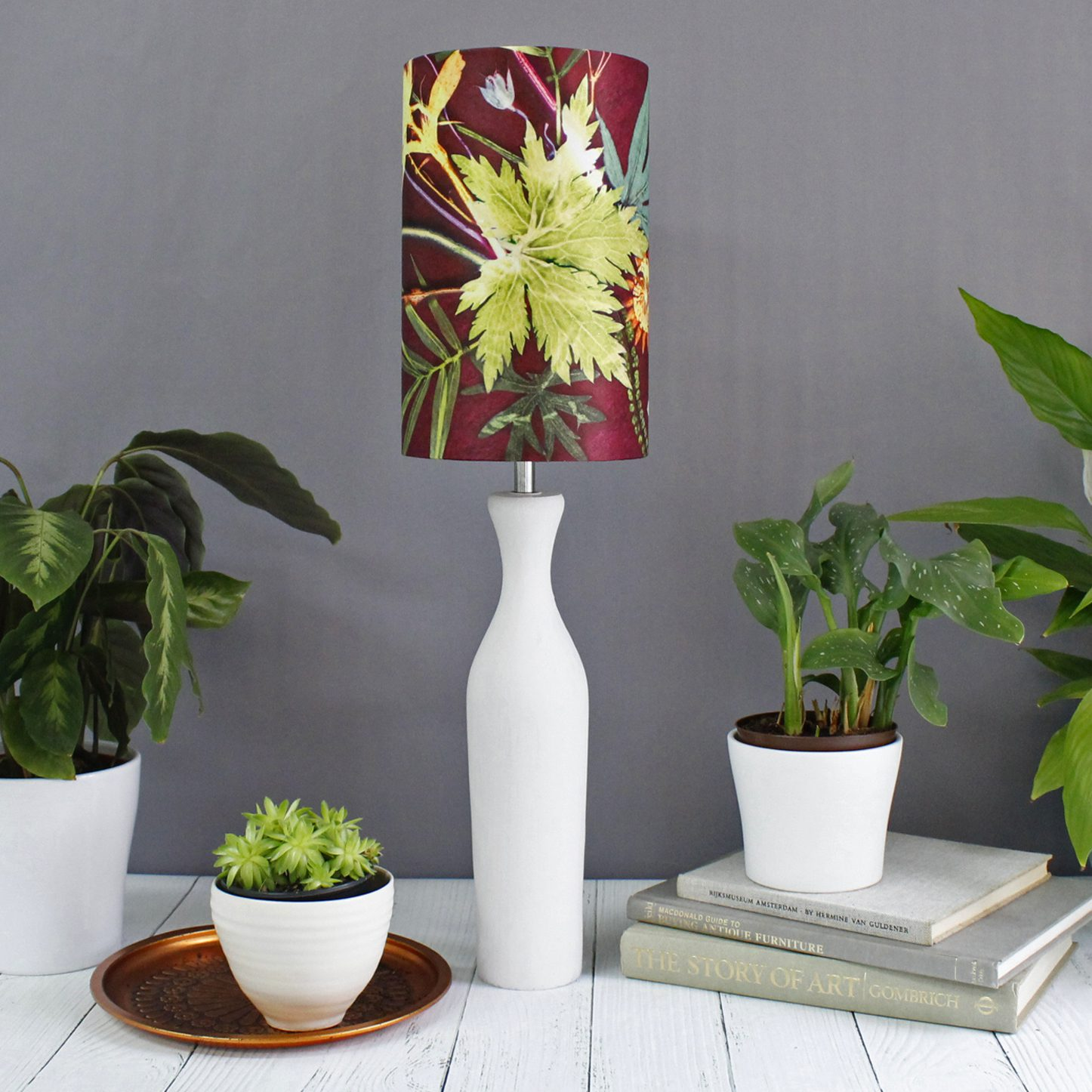 Tropical Wine | Red Wine & Green Lamp Shade For The Bedroom