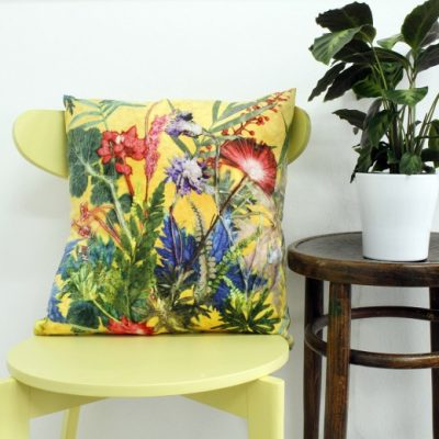 Summer Tropics | Yellow & Green Sofa Cushion Tropical Interior