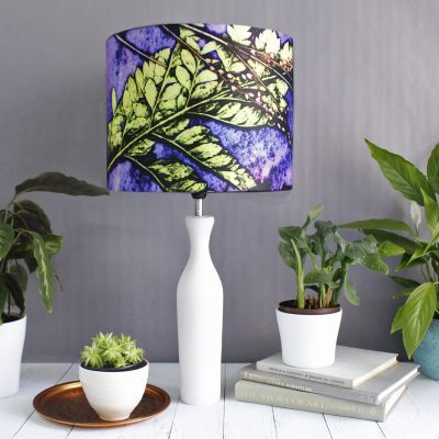 Plum Fern | Green & Purple Lamp Shade For The Home