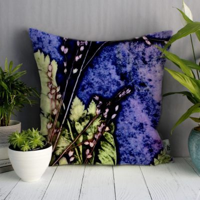 Plum Fern | Green & Purple Sofa Cushion Bold Design