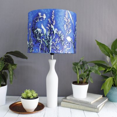 Blue Landscape | Blue & Green Lamp Shade For The Bedroom