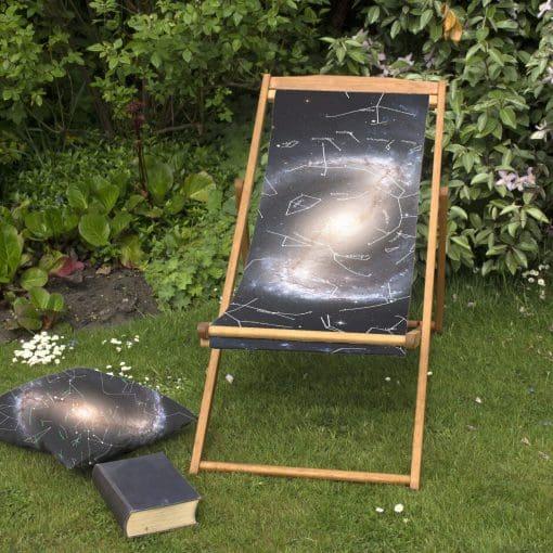 Galactic Deckchair | Personalised Wood Deckchair, Outdoor Seating
